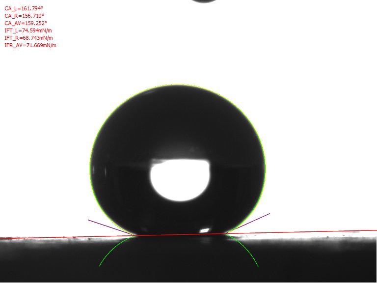 阿莎算法测试固体材料的接触角值