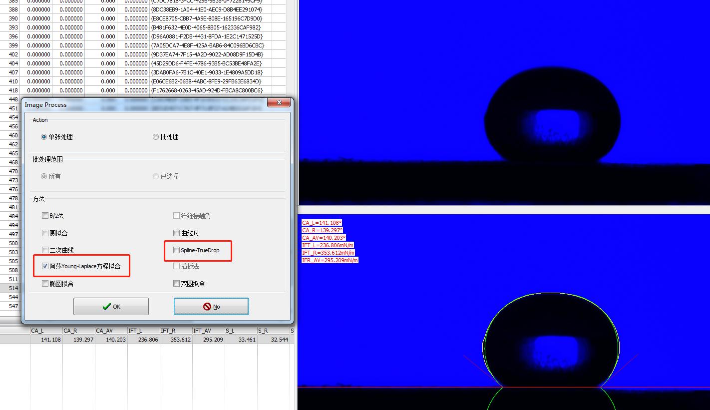 RealDrop接触角测量算法