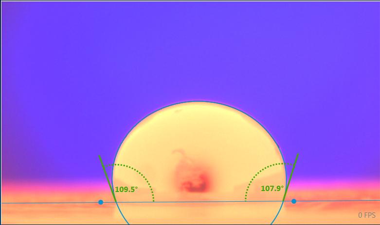 超高温熔体悬滴表面张力及接触角图片