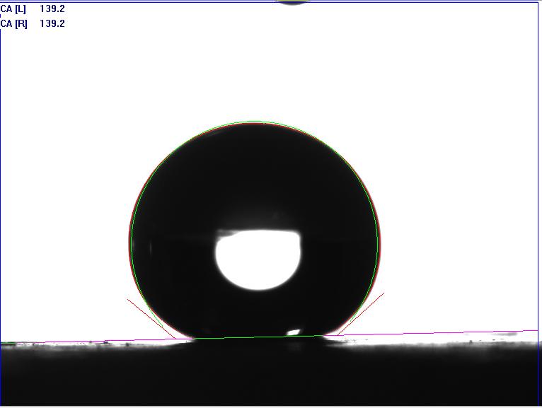 圆拟合法测试接触角值