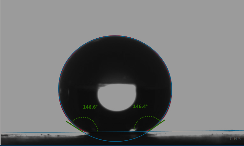 椭圆拟合分析测试接触角值