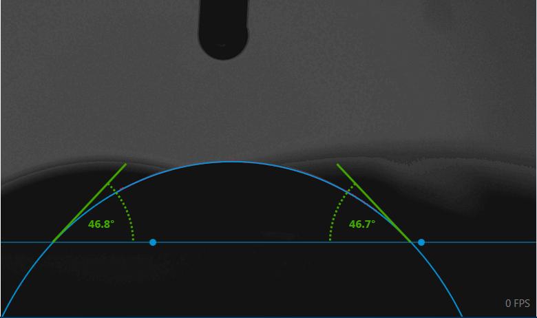 在昏暗模糊背景下准确测量接触角