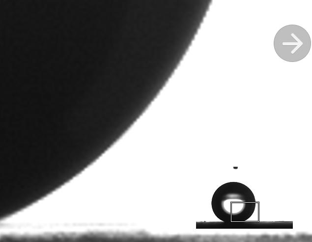 接触角测量仪或水滴角测量仪测试实际图片